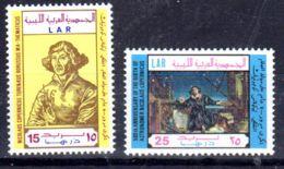 26.2.1973; 500e Anniversaire De Copernic, YT 462 + 463; Neuf **, Lot 50625 - Libye