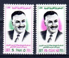 20.9.1971; Gamal Abd El Nasser; YT 400 + 401, Neuf **, Lot 50611 - Libye