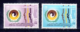 24.12.1971; Contre Racisme; YT 408 + 409, Neuf **, Lot 50613 - Libye