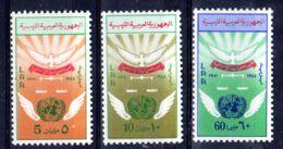 24.10.1970;; 25e Anniversaire L'ONU; YT 374 - 376, Neuf **, Lot 50607 - Libye