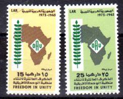25.5.1973; 10 Anniversaire De L'OUA; YT 469 + 470, Neuf **, Lot 50606 - Libye