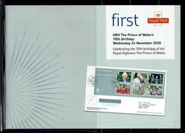 ROYAL MAIL COMMUNICATION STAMPS TIMBRES EMISSION HRH THE PRINCE OF WALES 70TH BIRTHDAY - Familias Reales