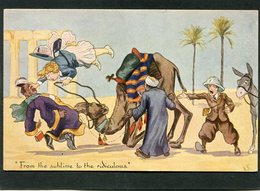 CPA - Humour In EGYPT - Illustration N.S. - From The Sublime To The Ridiculous - Egypt
