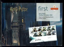 ROYAL MAIL COMMUNICATION STAMPS TIMBRES EMISSION STEP INTO THE WIZARDING WORLD OF HARRY POTTER 2018 - Cinema