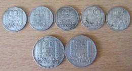 France - Lot De 7 Monnaies 10 Et 20 Francs Turin En Argent - 1931 à 1934 - TTB - France