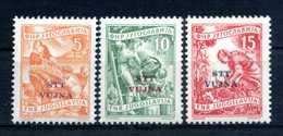 1954 STT VUJNA SET * - Mint/hinged