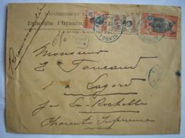CANTON -Lettre Recommandée De Hanoï Du 20/7/27 Pour Lagord Le 22/8/27 -Bel Affranchissement à 50c - Canton (1901-1922)