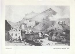 1952 - Iconographie - Villefranche-de-Conflent (Pyrénées-Orientales) - D'après Une Litho De 1839 - FRANCO DE PORT - Non Classés