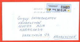 France 2018.Automatic Stamp.  Envelope Really Passed The Mail. - France