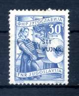 1953 STT VUJNA N.80 * - Mint/hinged