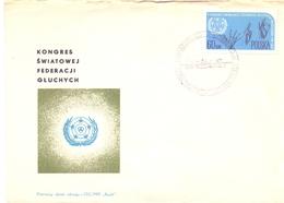 POLAND WARSZAWA  CONGRES  FEDERATION DEAF   (NOV180136) - FDC