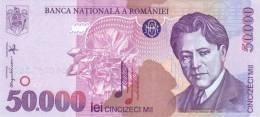ROMANIA P. 109 50000 L 1996 UNC - Roumanie