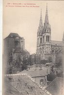 Cp , 03 , MOULINS , La Cathédrale Et L'Ancien Château Des Ducs De Bourbon - Moulins