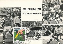 D35624 CARTE MAXIMUM CARD 1978 POLAND - MATCH POLAND Vs GERMANY - WORLD CHAMPIONSHIP SOCCER ARGENTINA CP ORIGINAL - World Cup
