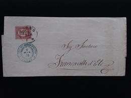 REGNO - Francobollo Di Servizio Di Stato Spedito 2/3/1876 Con Annullo Arrivo + Spese Postali - 1861-78 Vittorio Emanuele II