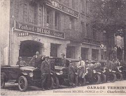 08-CHARLEVILLE- GARAGE TERMINUS- VOITURES ANCIENNE (CPA DEFAUT- COUPÉ) - Charleville