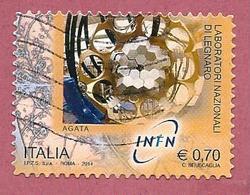 ITALIA REPUBBLICA USATO - 2014 - Laboratori Nazionali Fisica Nucleare - Legnaro Agata - € 0,70 - S. 3511 - 2011-...: Afgestempeld