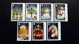 "Alderney 591/7 **/mnh, Weihnachten 2017, Weihnachtslied ""The Holly And The Ivy"" - Alderney"