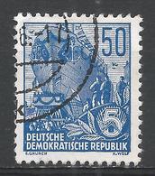 German Democratic Republic 1957. Scott #337 (U) Launching Ship * - [6] Democratic Republic