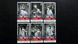 Alderney 471/6 **/mnh, 60. Jahrestag Der Krönung Von Königin Elisabeth II. - Alderney