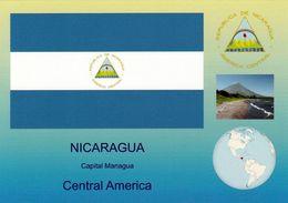 1 AK Nicaragua * Die Flagge, Das Wappen, Eine Landschaft Und Die Position Von Nicaragua In Mittelamerika * - Nicaragua