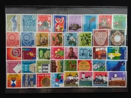 SVIZZERA Anni '60/'70 - Lotticino Nuovi MNH - 40 Francobolli Differenti - Sottofacciale + Spese Postali - Svizzera