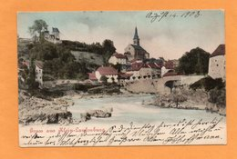 Gruss Aus Klein Laufenburg 1903 Postcard - Germany