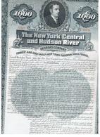 USA-1000USA-1000 DOLLARS-1897, NEW YORK CENTRAL AND HUDSON RIVER RAILROAD  GOLD   BOND ,UNCIRCULATED . - Etats-Unis