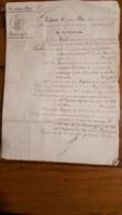 ACTE DE 10/1840 MARIAGE A PLEAUX DANS LE CANTAL  MR BIARD ET MLLE PUYBASSES - Documents Historiques