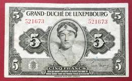 Luxembourg - Billet De Banque - 5 Francs 1944 - Luxemburgo