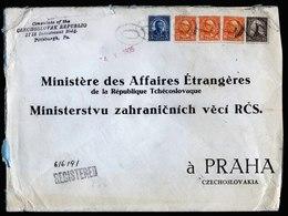A5710) Czechoslovakia Consulate Post R-Brief Pittsburg 25.04.35 N. Prag - Briefe U. Dokumente