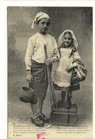 Carte Postale Ancienne Fantaisie Limousin - Décidés Pour Aller à La Pêche... - Enfants - France