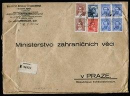 A5711) Czechoslovakia Consulate Post R-Brief Buenos Aires 27.04.36 N. Prag - Briefe U. Dokumente
