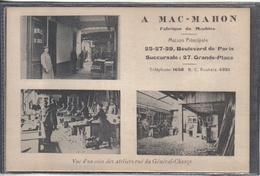 Carte Postale 59. Roubaix  Mac-Mahon  Fabrique De Meubles  Très Beau Plan - Roubaix