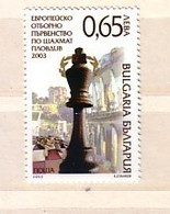 2003 CHESS  1v.-MNH  BULGARIA / BULGARIE - Bulgarie
