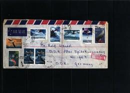 Australian Antarctic Territoriy 1973 Interesting Airmail Registered Letter - Australian Antarctic Territory (AAT)