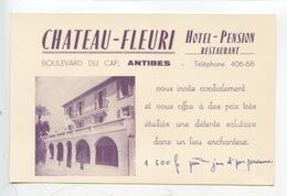 "Antibes : Hotel Pension Restaurant ""Chateau Fleuri"" Boulevard Du Cap (plan) - Antibes"