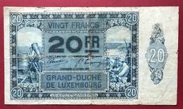 Luxembourg - Billet De Banque 20 Francs 1929 - Luxemburg