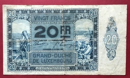 Luxembourg - Billet De Banque 20 Francs 1929 - Luxemburgo