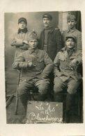 Militaria Militaire Carte Photo De Soldats Du 2 ème Régiment à Salouël Ou Proche Les As De La Blanchisserie - Personnages