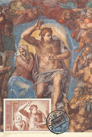 D35646 CARTE MAXIMUM CARD 1975 RUSSIA - THE SAVIOR BY MICHELANGELO CP ORIGINAL - Religieux