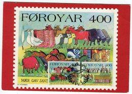 Faroe Islands Postcard Used 1994 - Faroe Islands