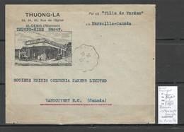 Reunion - Lettre De SAINT DENIS Pour VANCOUVER Au CANADA  -1936 - Reunion Island (1852-1975)