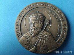MEDAGLIE PAPALI Millenario Della Conversione Russa 988/1988 - Italia