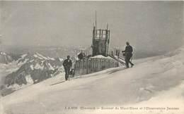 CPA 74 Haute Savoie CHAMONIX Sommet Du Mont Blanc Et L'Observatoire Janssen JJ 6126 Neuve Alpiniste Ski - Chamonix-Mont-Blanc