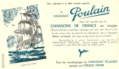 Buvard - Chocolat POULAIN - Chansons De France - Hardi Les Gars - Chocolat