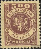 Memelgebiet 149 With Hinge 1923 Postage Stamp - Memelgebiet