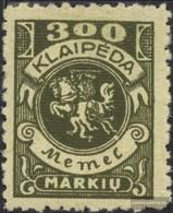 Memelgebiet 147 With Hinge 1923 Postage Stamp - Memelgebiet