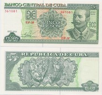 CUBA       5 Pesos       P-116[p]       2016       UNC - Cuba