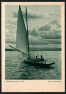 B9564 - Foto Kunstkarte - Abenddämmerung Am Meer - Voigtländer Heliar - Kupfertiefdruck H. Osterwald Hannover Segelboot - Ilustradores & Fotógrafos